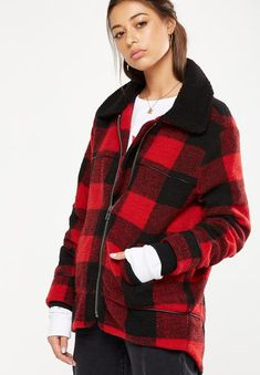 The historic coat - red buffalo check Cotton On Coats | Superbalist.com