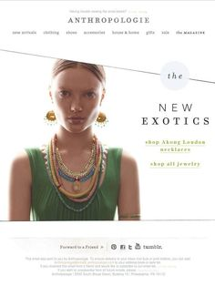 Email marketing design winner: Anthropologie uses reading directions http://bit.ly/Jib2LF #emailmarketing