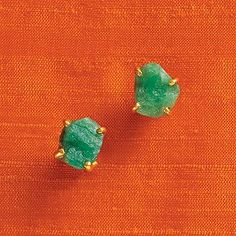 Emerald envy | Love these raw beauties from @kate spade new york ... and I don't even have pierced ears!