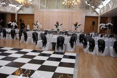 Black and white dance floor at a black and white themed wedding - stunning! Led Dance, Dance Floors, Black And White Theme, White Lead, Wedding Gallery, White Decor, Inspiration, Biblical Inspiration, Inspirational