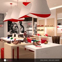 Shoe shop design by www.inoutstudio.com #corporate #architecture #retail