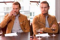 Hot Guy/Cold Drink: Scotch and Set Secrets With 'Outlander' Star Sam Heughan - ELLE.com
