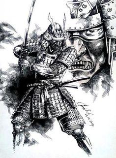 tattoo samurai drawing warrior simple japanese dragon fighting template inspireuplift ru designs tattoos