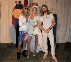 Pin for Later: Get Some Halloween Inspiration With 80+ Amazing Celebrity Costumes!  Adam Levine, Anne Vyalitsyna, and James Valentine got in the Halloween spirit in 2011.