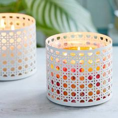 PartyLite Summer 2017 - Get set for bright summer style with this intricate woven cane designed metal holder.