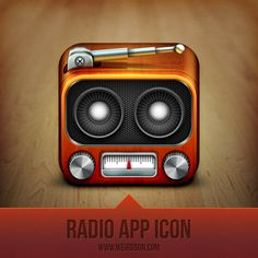 Radio App Icon design by Aditya Nugraha Putra. - Best Mobile Designers In The World   Scoutzie - via http://bit.ly/epinner