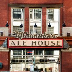 "Item Description: Original Photograph, by Joan Schulte, entitled, ""Milwaukee Ale House."" This photo which was made in Milwaukee, Wisconsin, would be a cool addition to the gallery wall of a beer lover or in a home bar. This photo has been enhance with photo filter (that Joan created) that gives the image a distressed appearance. It is then hand-transferred onto a hand-crafted, 5.5""x5.5""X1.25"" square box panel (or support) that is made from locally sourced (Louisville, Ky) reclaimed wood…"