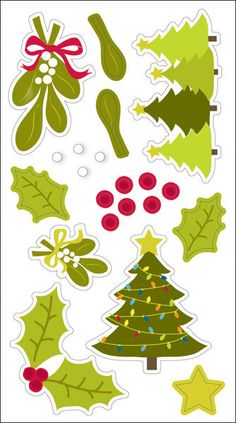 Autumn Leaves 3-D Stickers - Christmas, 21 pieces, With Glitter  $2.54