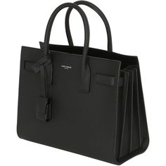 Saint Laurent Women Baby Sac De Jour Bonded Leather Bag (124,600 MKD) ❤ liked on Polyvore featuring bags, handbags, shoulder bags, yves saint laurent, yves saint laurent shoulder bag, yves saint laurent purse, shoulder strap handbags and shoulder strap bags