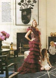 Princess Marie-Chantal Miller feeling glamorous
