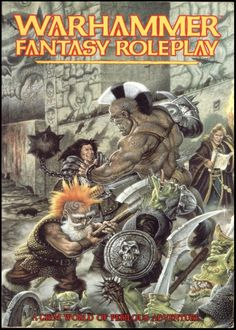 Warhammer Fantasy Roleplay.  I have two copies of these in great condition on my shelf, left here by my ex husband, he played it since we were in high school. I played it a few times before my full appreciation and education in table top. I don't want them anymore.