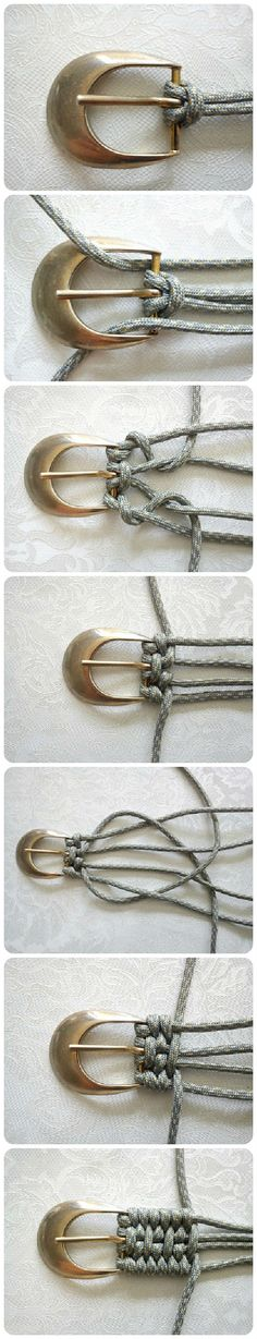 Tutorial for weaving a belt //Manbo