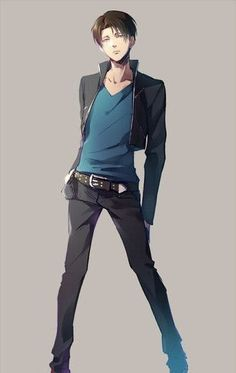He seems so much taller in this one. Rivaille Levi - Attack on Titan / Shingeki no Kyojin http://anime.about.com/od/Attack-on-Titan/ss/Top-5-Sexiest-Attack-on-Titan-Characters.htm