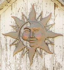 Mysterious Outdoor Large Sun Face Metal Wall Art