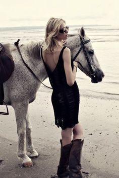 Love the dress with the boots! UGHHHH!