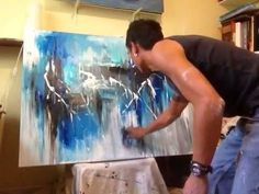 """Abstract Acrylic Painting """"Chaotic Clarity"""" Part 1/3 by Randy Alcasid - YouTube"""