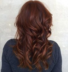 Reddish Brown Wavy Hairstyle