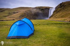 Campground right in front of Skogafoss.