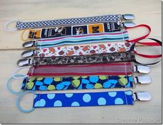 Fabric and Ribbon Binky Holders from Creative Passage