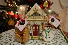 Casitas con sorpresas de Biscuits dentro. AnAna´s Biscuits: Biscuits de Navidad!!