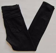Gap 1969 True Skinny Super High Rise Jeans 27 4 Black Stretch Denim Fall 2016 #GAP #SlimSkinny