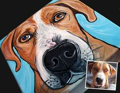 CUSTOM dog painting pet portrait dog art from your by WOOFFactory, $75.00