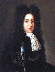 Effimate Gian Gastone de' Medici ( 24 May 1671 – 9 July 1737) was the seventh and last Medicean Grand Duke of Tuscany. He had always been somewhat melancholy, but when he was pressed to beget an heir with a plump and masculine wife he detested, he became severely depressed. Soon, he let a life filled with alcohol, gambling, witticisms and orgies. After spraining his anckle, his smelly bed became the center of his existence..