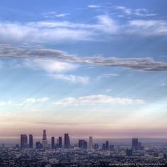 LA Skyline and a Summer Sunset Los Angeles Events, Downtown Los Angeles, Echo Park, California Dreamin', Los Angeles California, Santa Monica, Places To Travel, Places To Visit, Panorama City