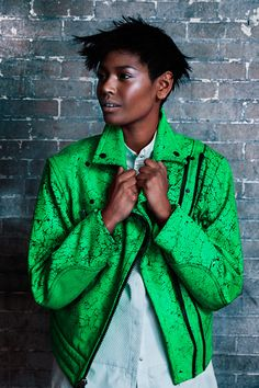 Rugged green #Saks #fashion #style #trend