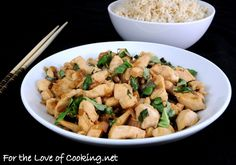 Spicy basil chicken from fortheloveofcooking.net
