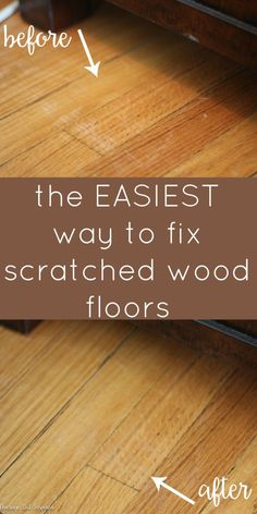 You don't have to live with scratched hardwood floors! There is a super easy way to fix shallow scratches and it doesn't cost a lot!