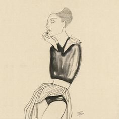 #MargotMace #illustration #woman #woodblockillustration #fashionillustration #trafficnyc