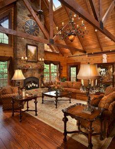 Urban modern Interior Design for Your Home & DIY – Love at Decoration Rustic Home Design, Modern Interior Design, Interior Design Living Room, Modern Decor, Rustic Decor, Rustic Charm, Log Cabin Living, Log Cabin Homes, Log Cabins