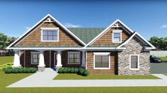 Flexible Plan With Front-to-Back Foyer - 75400GB | Bungalow, Country, Craftsman, Northwest, Photo Gallery, 1st Floor Master Suite, Bonus Room, CAD Available, Loft, PDF, Split Bedrooms, Corner Lot | Architectural Designs