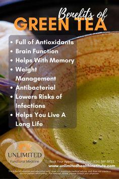 Health Benefits of Green Tea Natural Health Remedies, Natural Cures, Natural Healing, Holistic Nutrition, Health And Nutrition, Health And Wellness, Nutrition Education, Healthy Facts, Healthy Tips