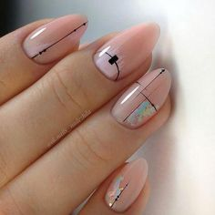 Best Nail Art Designs - 36 Best Nail Art Designs 2019 - The most beautiful nail designs Easy Nails, Easy Nail Art, Cool Nail Art, Simple Nails, Simple Elegant Nails, Nude Nails, Gel Nails, Acrylic Nails, Toenails