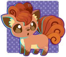 037 Vulpix by Miss-Glitter on DeviantArt Fire Pokemon, Vector Game, Cute Pikachu, Catch Em All, Art Club, Anime Comics, Cute Art, Scooby Doo, Cute Pictures