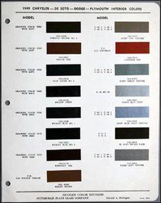 1949 dodge coronet paint colors | 1949 Chrysler Corp Chrysler, DeSoto, Dodge & Plymouth 2-page (single ...