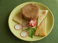 Csirkemáj-pástétom egyszerűen Hungarian Recipes, Hungarian Food, Hummus, Bread, Ethnic Recipes, Homemade Hummus, Hungarian Cuisine, Breads, Sandwich Loaf