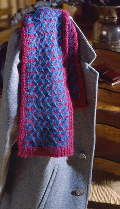Cable Knit Scarf by Leisure Arts - Free Pattern Friday!