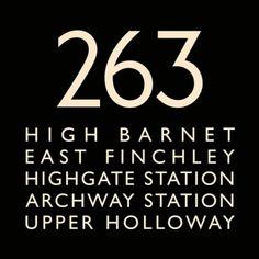 London Bus Blind Bus Route 263