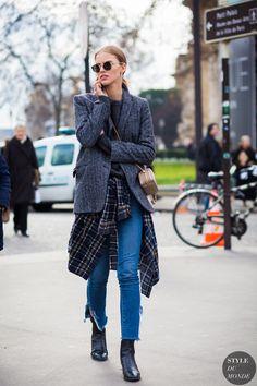 Haute Couture Spring 2016 Street Style: Sasha Luss - STYLE DU MONDE | Street Style Street Fashion Photos