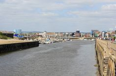 The River Arun in Littlehampton West Sussex England