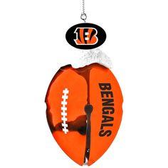 Cincinnati Bengals Football Bell Ornament - $7.99