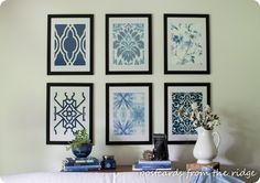 DIY Wall Art | Pottery Barn Inspired Framed Wallpaper Wall Art ~ All you need are a few wallpaper samples!