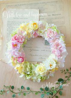 ピンク×パープルのウェルカムリース * ご両親贈呈リース&ブートニア* | ウェディング&フラワーリースのMilkyFlower*