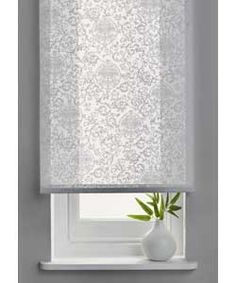 6ft Swirl Semi Privacy Roller Blind - White.