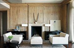 Atlanta Homes Magazine, Birmingham, Architects Paul Bates & Jeremy Corkern, designer Betsy Brown, old oak, modern, chic, black and white, wood, living room