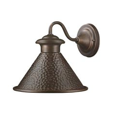 Hampton Bay Essen Antique Copper Outdoor Wall Lantern  for outside lights on porch