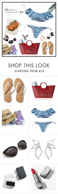 """""""Set 2032"""" by lapshi4ka ❤ liked on Polyvore featuring Hollister Co., Mark & Graham, W. Britt, Herbivore, Burberry and Chanel"""